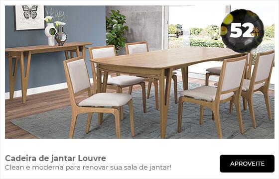 Cadeira de jantar Louvre com 52% de desconto