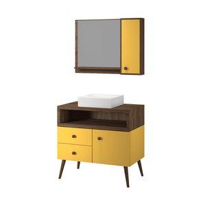 conjunto-cuba-espelheiro-banheiro-quadrada-apartamento-colorida-decoracao-armario-2-gavetas-1-porta-retro-pes-palitos-80-cm-amarelo-amadeirado-turim-1130629-01
