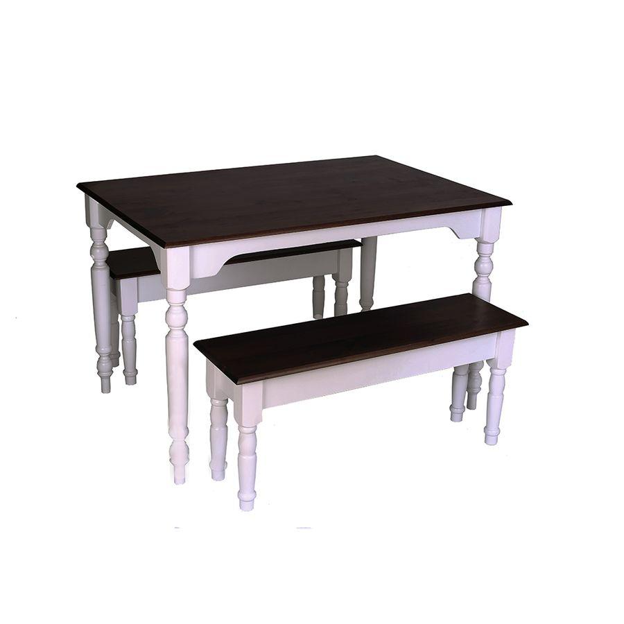 conjunto-mesa-madeira-dois-bancos-pes-torneados-907293
