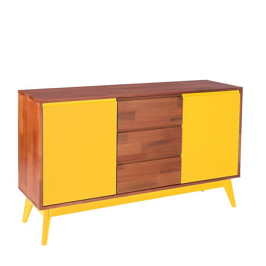 buffet-diamante-2-portas-3gavetas-madeira-macica-base-em-madeira-pes-palitos-amarelo-221032-01