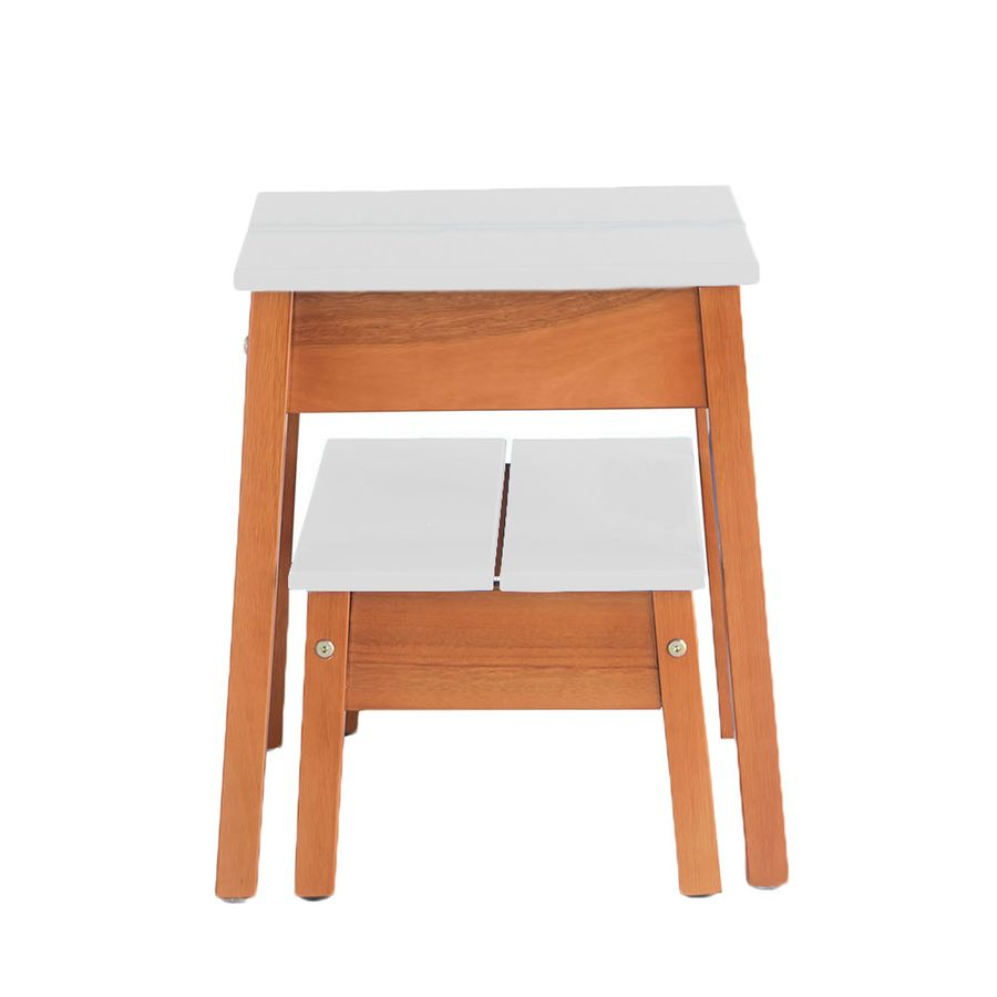 Kit Banqueta Duo Off White Wood Prime Mp 10365 Wood Prime Mobile