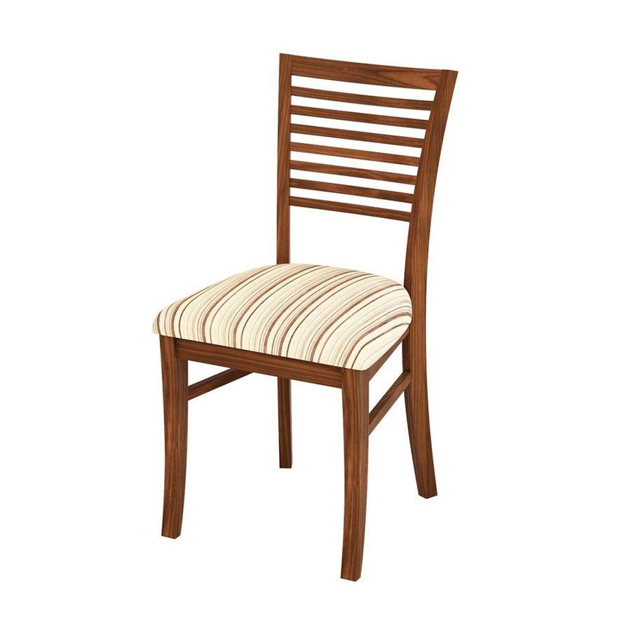 cadeira-milao-sala-madeira-escura-tecido-bege-listrado-encosto-cozinha-jantar