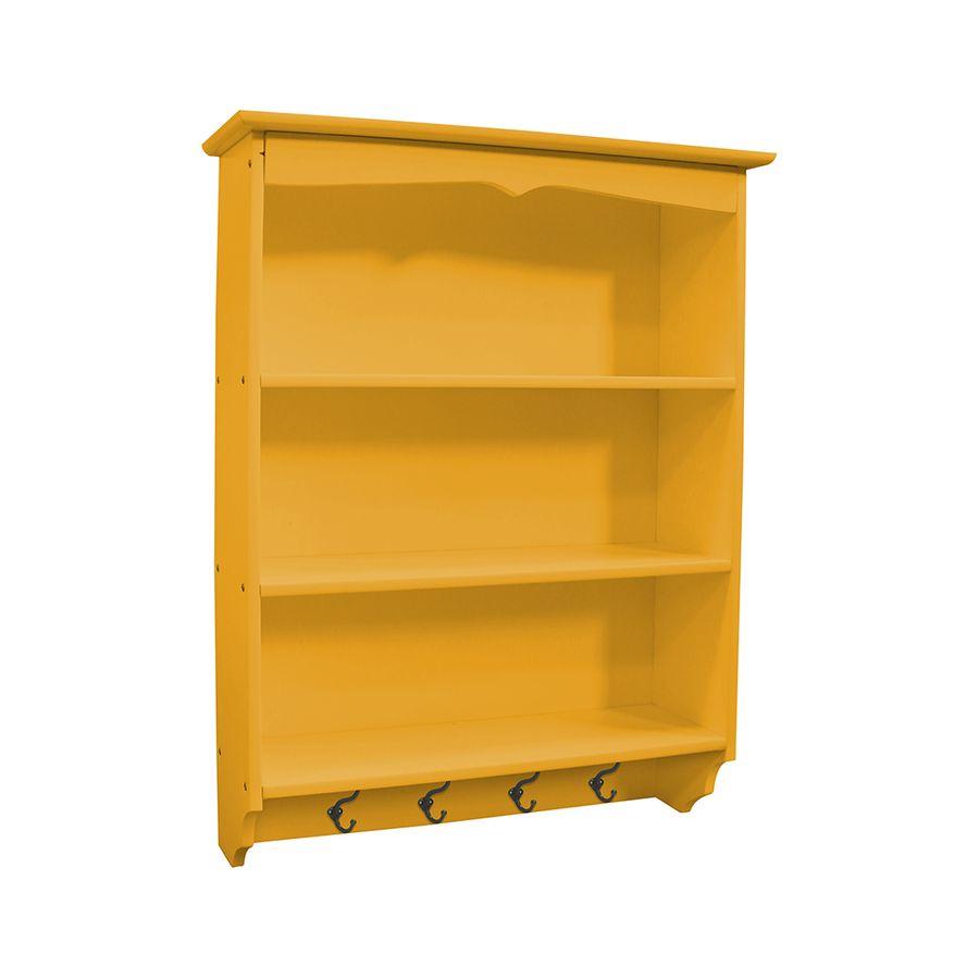 prateleira-3-lugares-porta-chaves-madeira-amarela