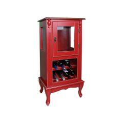adega-uma-porta-madeira-vermelha-vidro