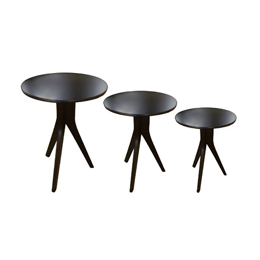 conjunto-mesa-de-apoio-redonda-madeira-preta-tres-pes