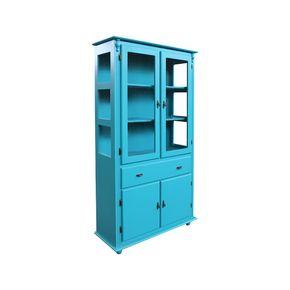 cristaleira-com-quatro-portas-com-gaveta-madeira-azul