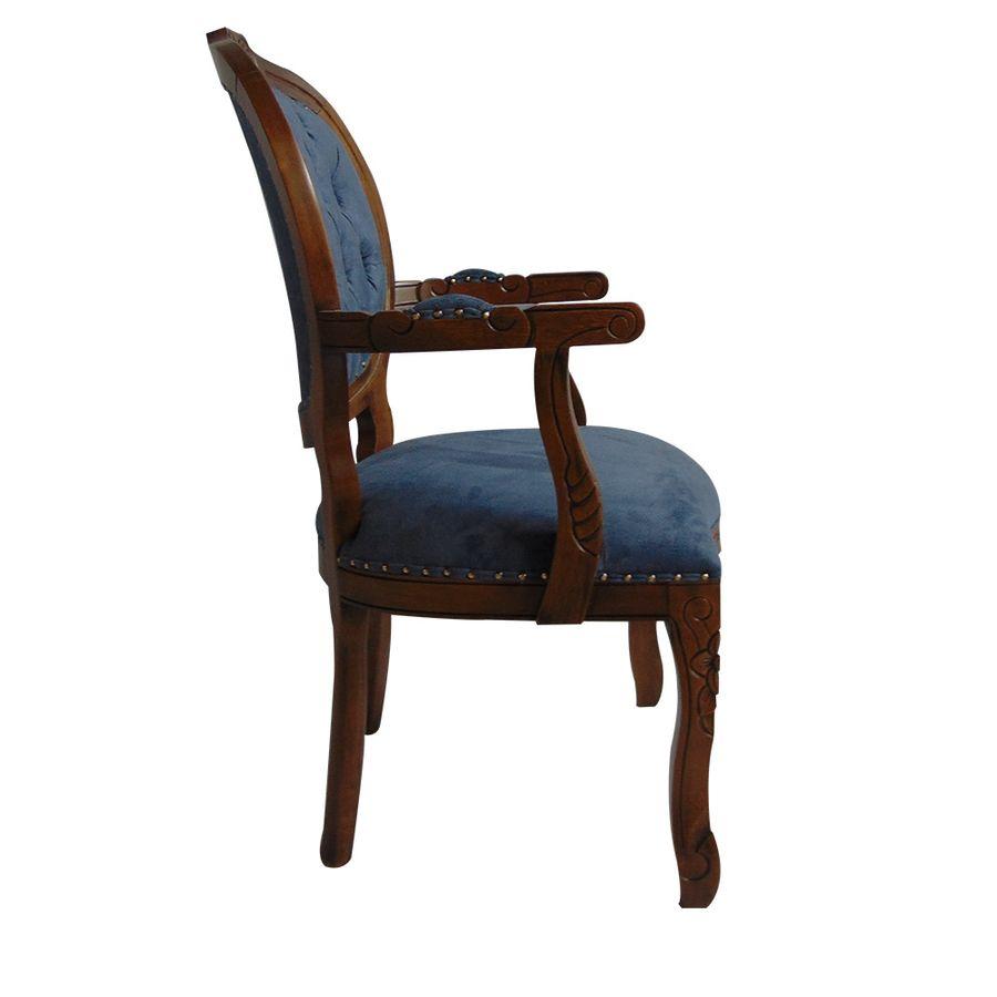 poltrona-estofada-madeira-azul-com-braco-captone-decoracao-mesa-jantar-medalhao-03