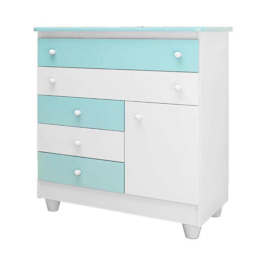 comoda-adhara-branco-azul-5-gavetas-1-porta-quarto-bebe-infantil-01
