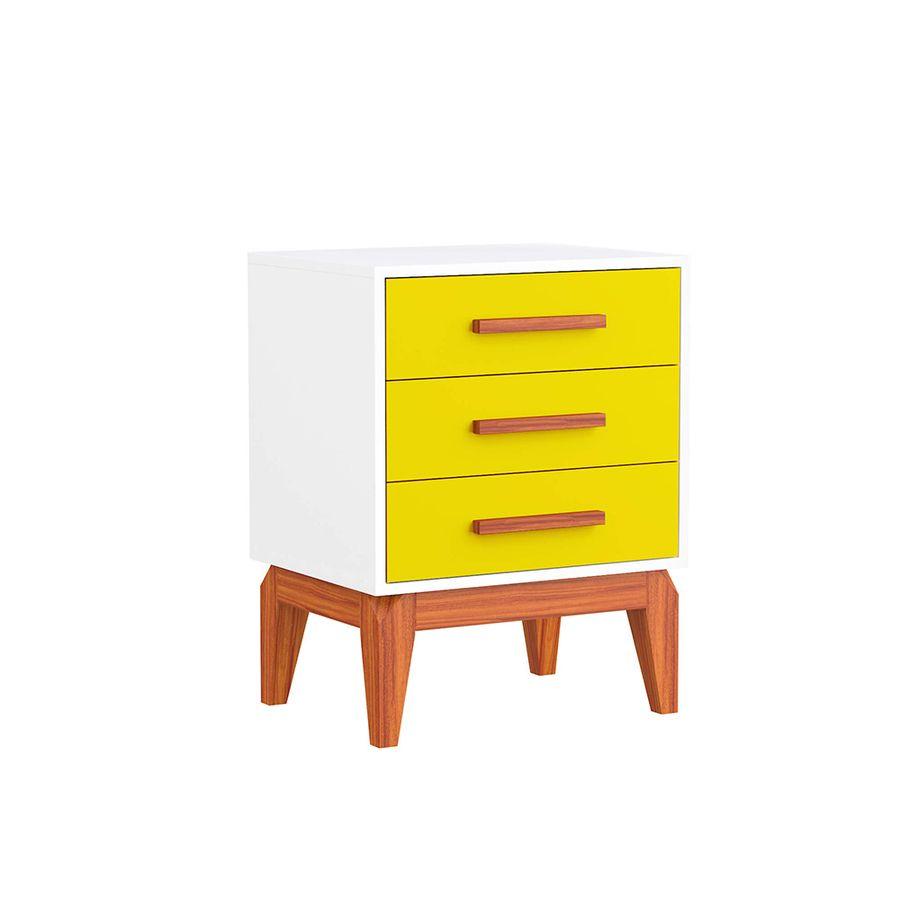 Criado-mudo-3-gavetas-amarelo-branco-2-gavetas-nicho-retro-pes-quarto-decoracao-