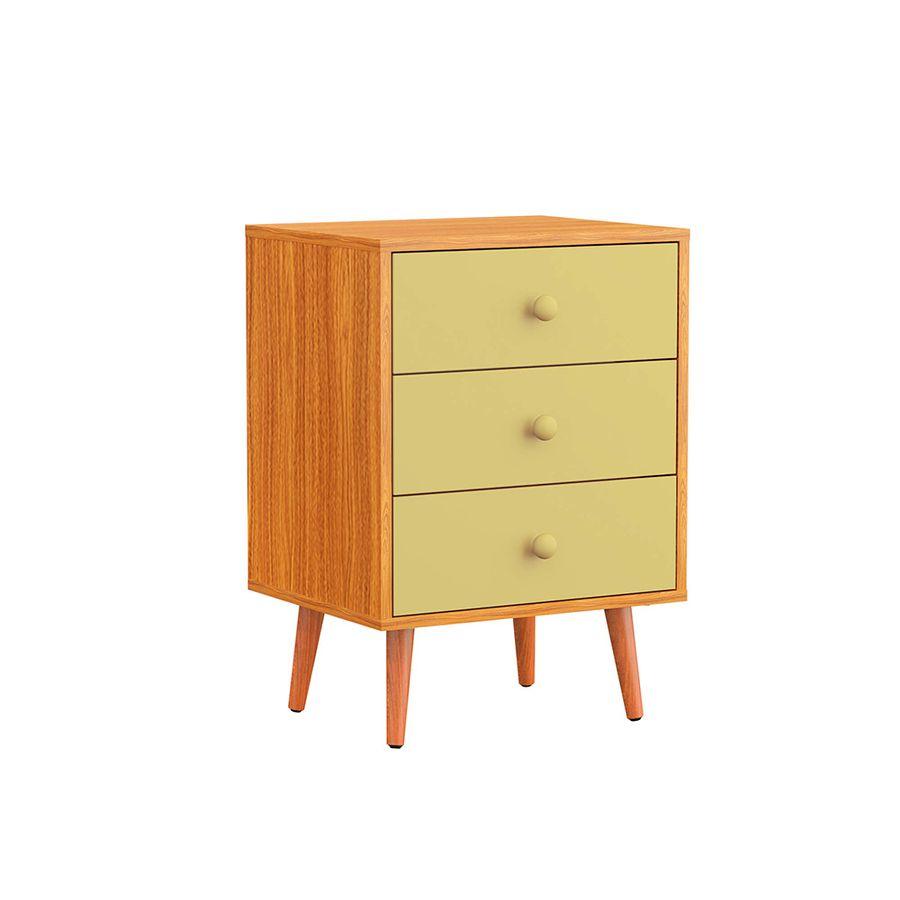 criado-mudo-retro-3-gavetas-bege-amadeirado-nicho-retro-pes-palito-quarto-madeira-decoracao-