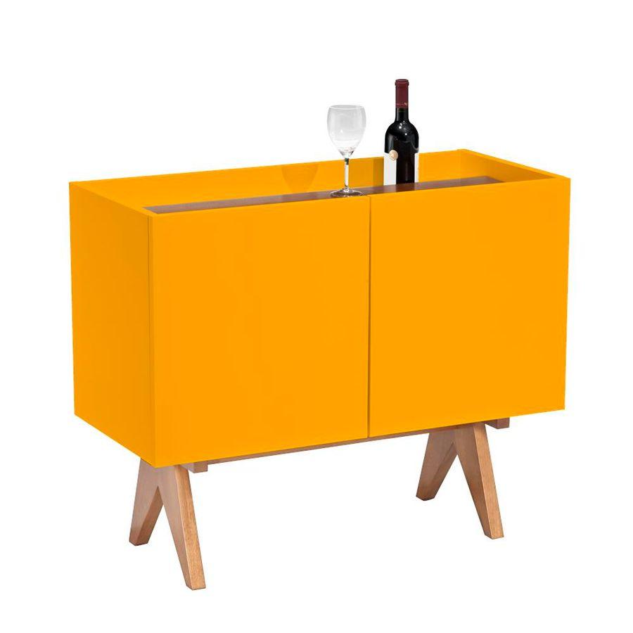 adega-vinho-paes-amarelo-duas-portas-decoracao-base-madeira-1