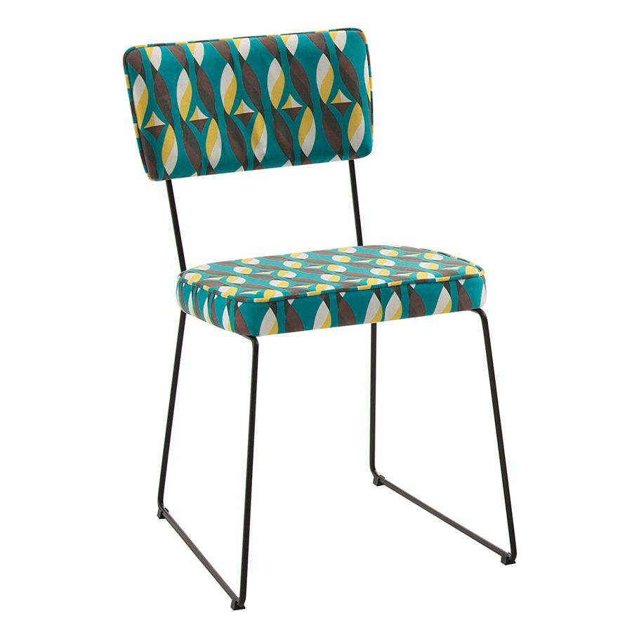 F53-C33-cadeira-de-jantar-estofada-base-metal-retro-colorida-verde-anos-50