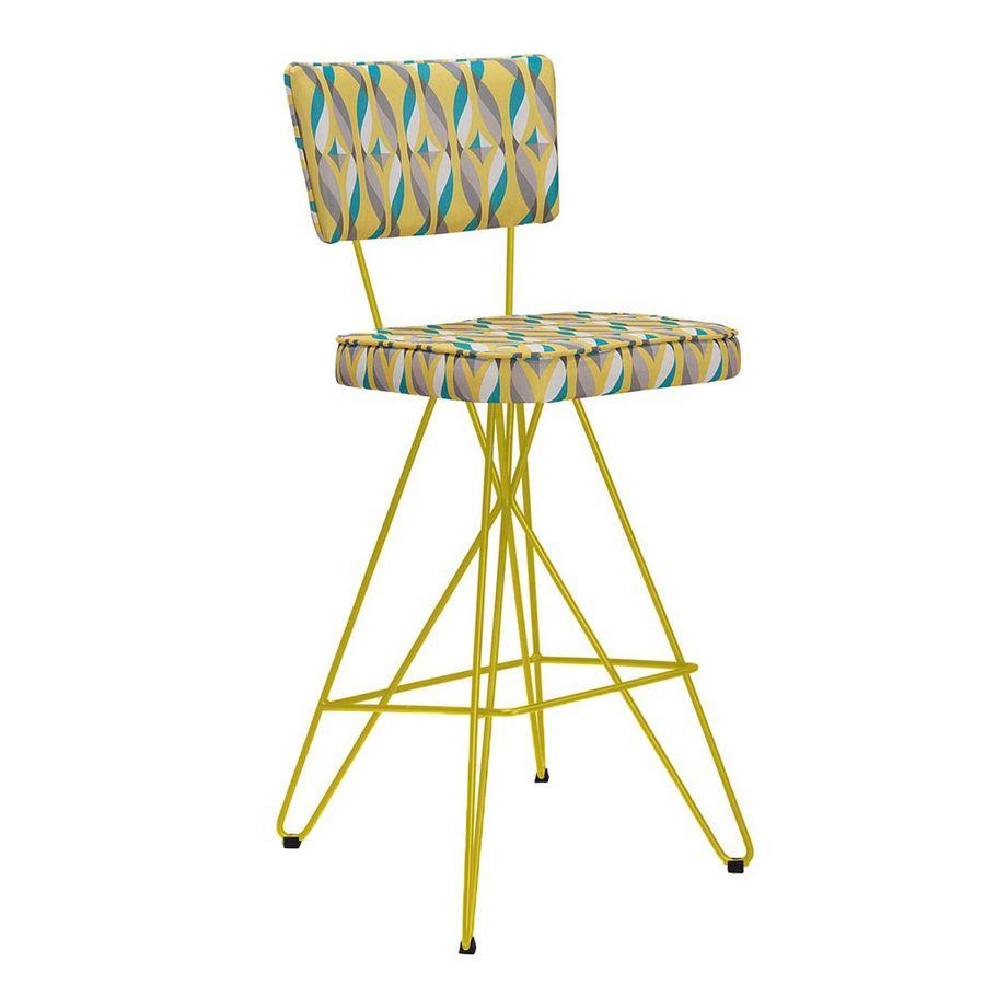 F102-C32-A-1-banqueta-retro-colorida-estampada-base-orby-amarela