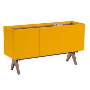 buffet-paes-amarelo-base-madeira-tres-portas-com-adega-sala-decoracao-1