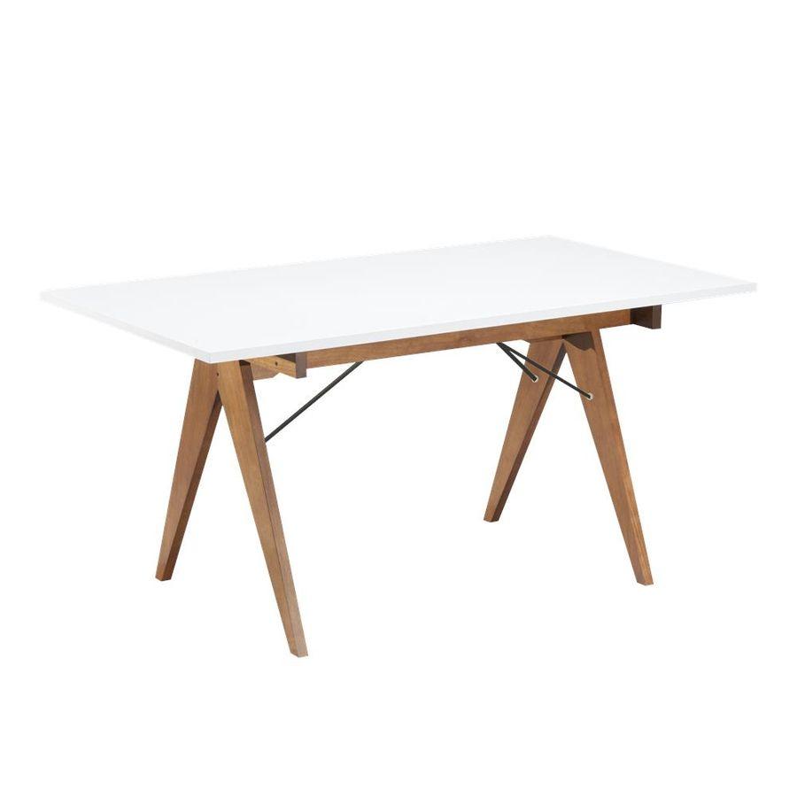 mesa-jantar-paes-160-branca-pes-madeira-com-ferro