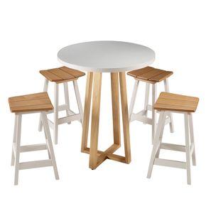 4130-Mesa-Bistro-Tamandare-Alta-tampo-laqueado-e-base-madeira-4132-Banqueta-Tamandare-Alta-assento-madeira-e-base-laqueada