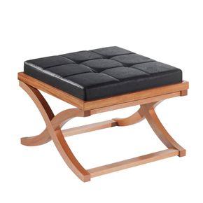 mesa-puff-merce-com-almofada-tecido-preto-decoracao-sala-estar