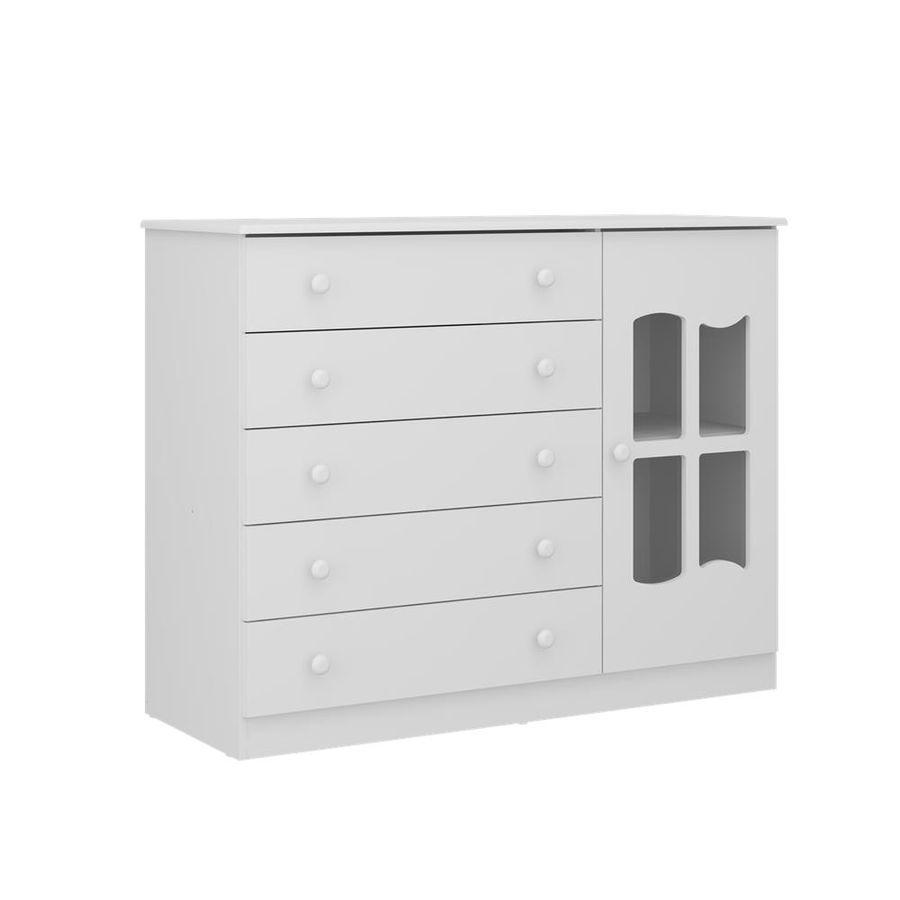 2670.156-comoda-branca-5-gavetas-com-porta-quarto-infantil-decoracao-1