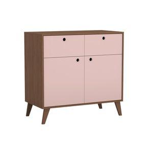 2720.953-comoda-retro-2-gavetas-2-portas-madeira-frente-rosa-quarto-infantil-decoracao-1
