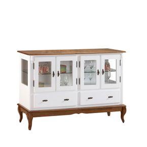 armario-decorativo-portas-de-vidro-gavetas-pes-torneados-sofisticado
