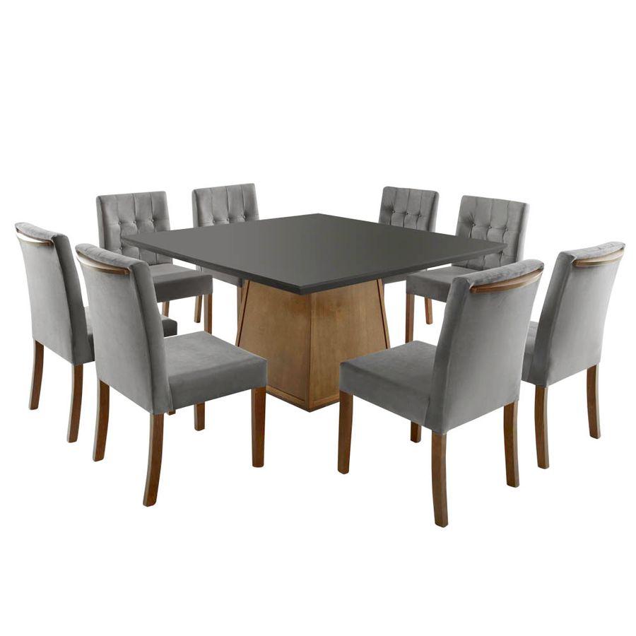kit-de-jantar-8-cadeiras-elegancia-cinza-sem-braco-com-encosto-mesa-piramide-quadrada-preta-madeira-macica