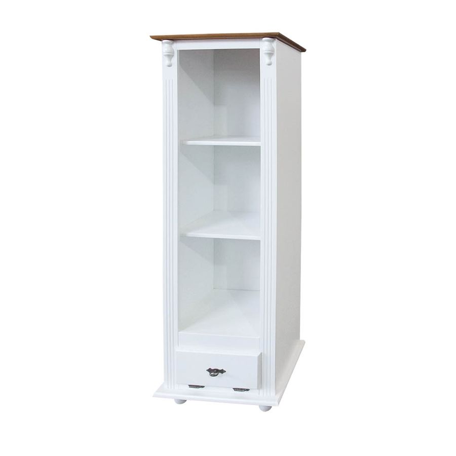 774-armario-com-pratileiras-e-gaveta-decorativo-com-vidro-pes-torneados-