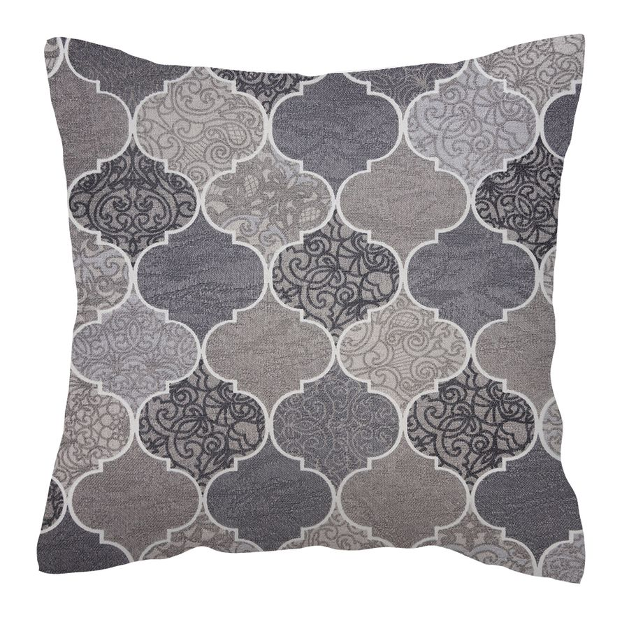 Mirage-Cinza-almofada-para-sofa-decorativa-almofada-estampada-arabesco-cinza