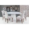 mesa-de-jantar-branca-base-madeira-com-frisos-tampo-quadrado-decoracao-moderna-contemporanea