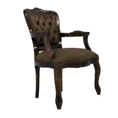 cadeira-poltrona-luis-xv-entalhada-tabaco-capitone-bege-cafe-marrom-com-braco-sala-de-estar-jantar-mesa-madeira-macica-02