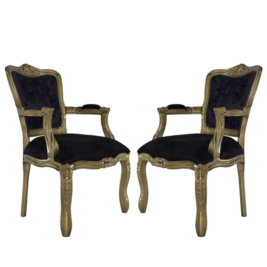 poltrona-entalhada-dourado-envelhecido-capitone-preto-sala-de-estar-cozinha-decorativa