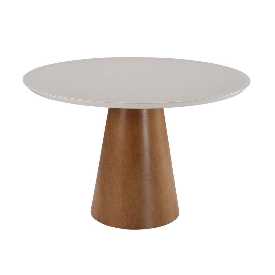 mesa-de-jantar-circular-branca-base-madeira-macica