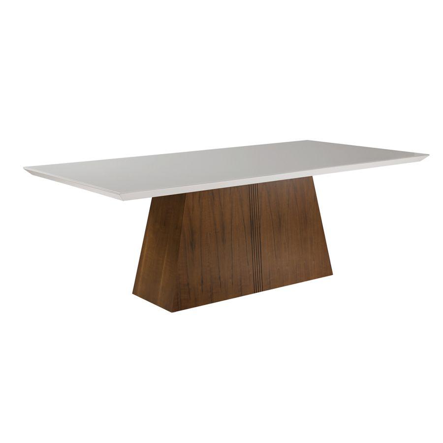 mesa-de-jantar-madeira-macica-tampo-branco-base-madeira-com-entalhe