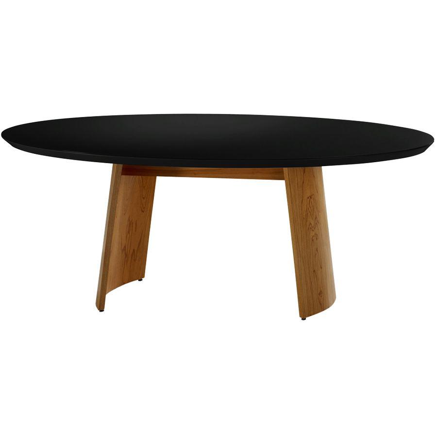 mesa-de-jantar-madeira-macica-tampo-oval-preto-sala-de-jantar