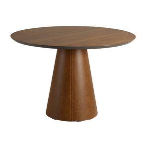 mesa-de-jantar-redonda-madeira-macica-base-revestida-courino-costurado
