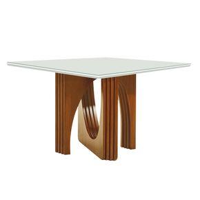 mesa-de-jantar-quadrada-cronos-tampo-branco-base-madeira-moderna