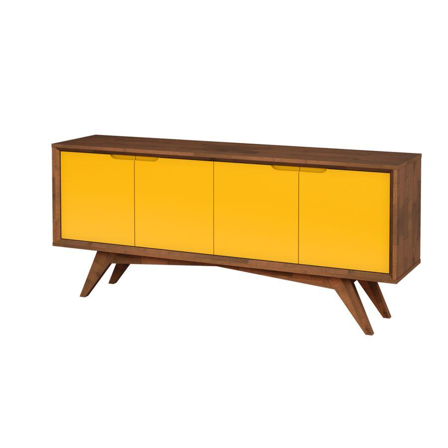 buffet-querubim-sala-de-jantar-estilo-retro-madeira-4-portas-amarelo-2