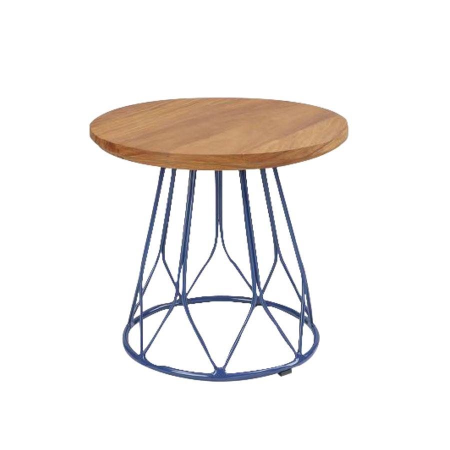 Lunna-mesa-de-apoio-tampo-madeira-base-aco-azul-area-interna-e-externa-decoracao