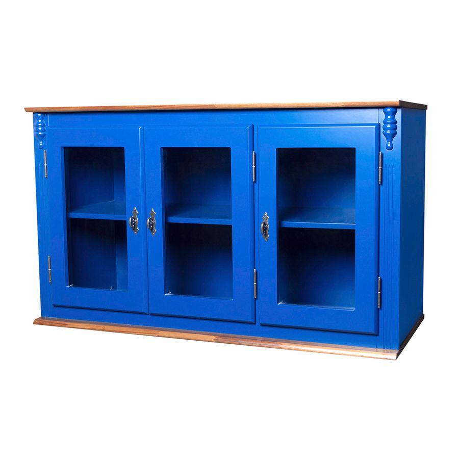 50607V-060C-e-024B-armario-retro-azul-bic-madeira-macica-3-portas-vidro-vintage-rustico