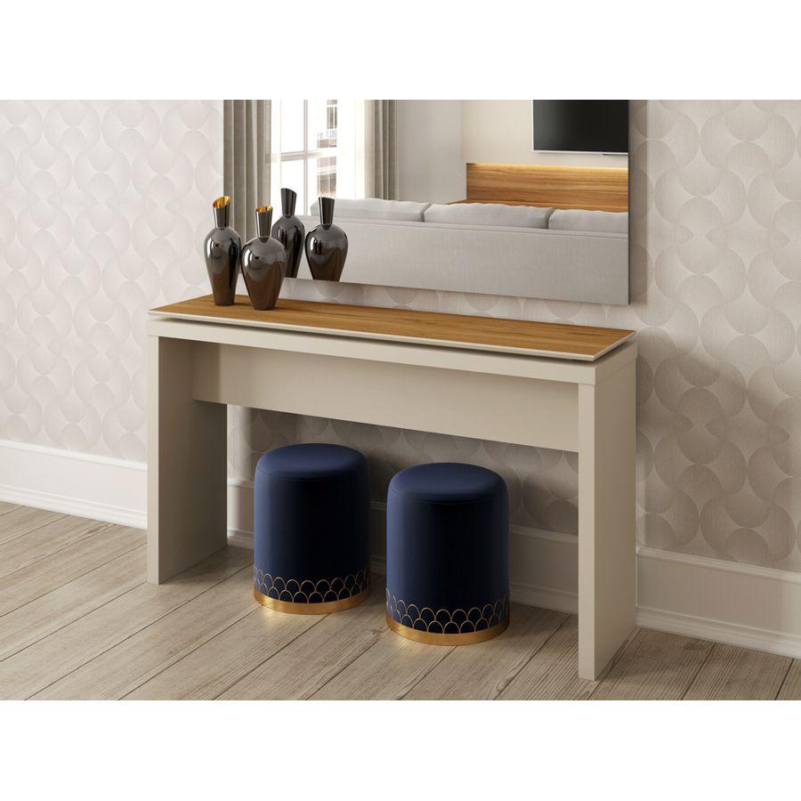 aparador-Ally-ambientada-off-white-moderno-tampo-em-madeira