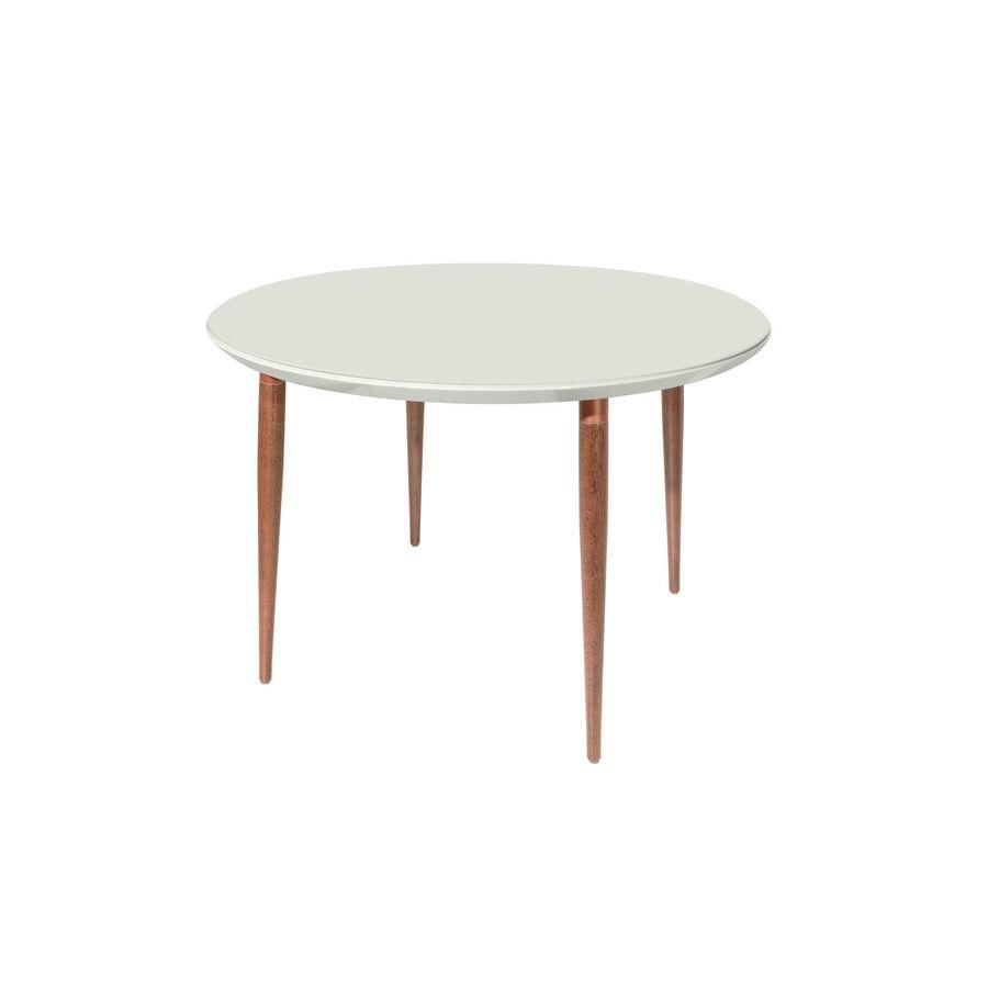 Mesa-de-jantar-Arquelis-4-lugares-redonda-com-vidro-branco-gloss-natural-pes-palito-em-madeira