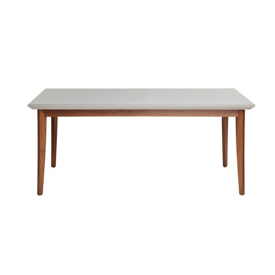 Mesa-de-jantar-Sonata-16-com-vidro-4mm-retangular-6-lugares-off-white-em-madeira-frontal