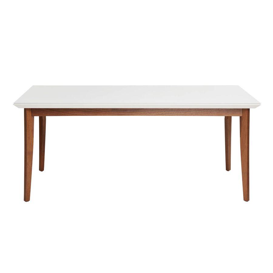 Mesa-de-jantar-Sonata-18-com-vidro-4mm-retangular-6-lugares-branco-gloss-em-madeira