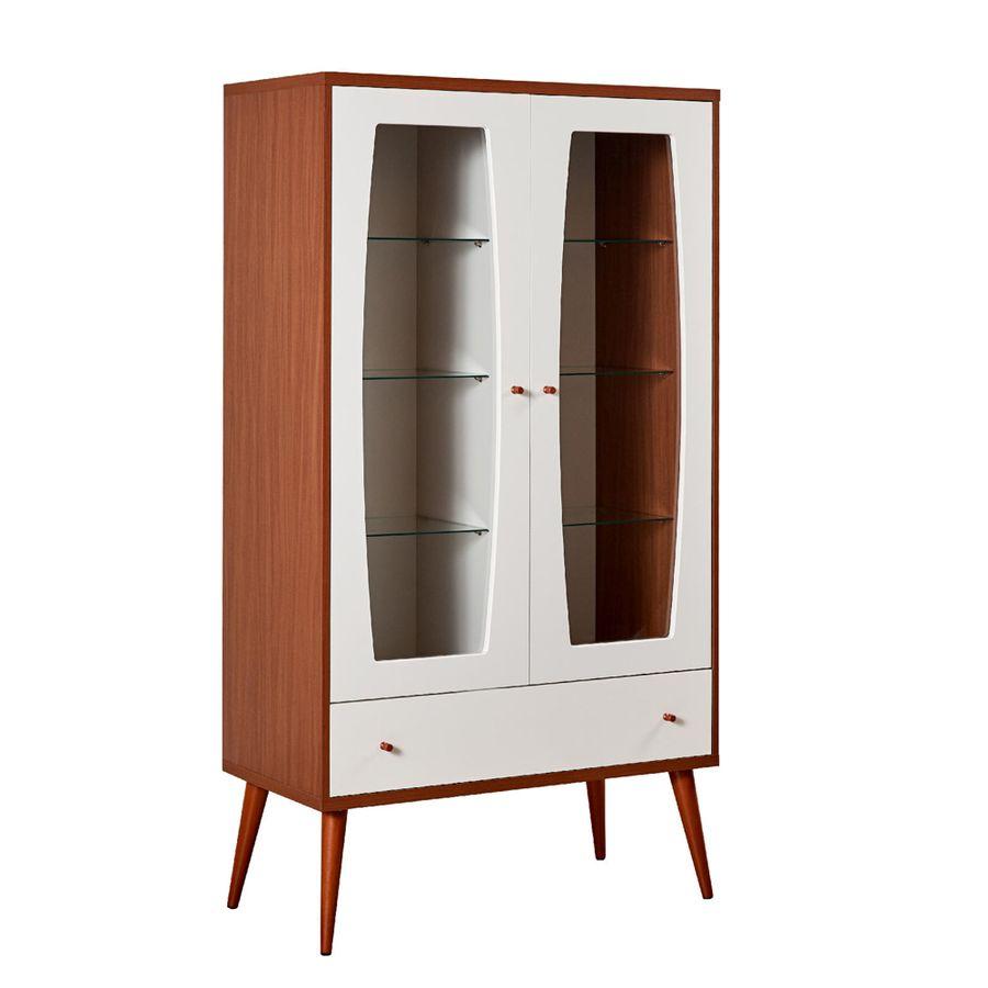 Cristaleira-Seymor-off-white-madeira-2-portas-com-vidro-1-gaveta-3-prateleiras-pes-palito-em-madeira-perspec