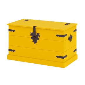 Bau-dallas-amarelo-com-abertura-madeira-macica
