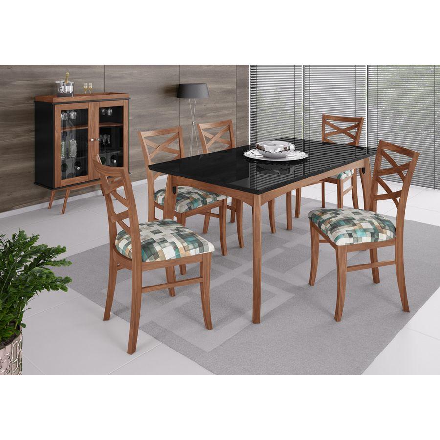 mesa-victoria-cadeira-veneza-cristaleira-brunelo
