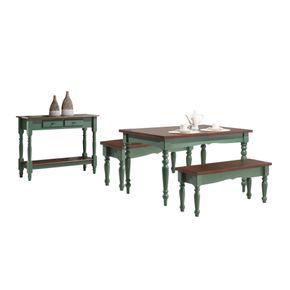 conjunto-sala-de-jantar-mesa-em-madeira-com-verde-escuro-e-banco