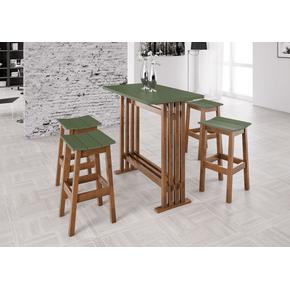 conjunto-mesa-alta-banqueta-madeira-verde