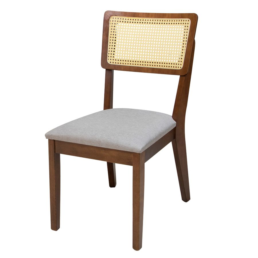Cadeira de Jantar Antibes com Tela Pinhão - Wood Prime PTE 34527