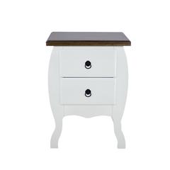 Criado-mudo-retro-branco-moderno-com-tampo-madeira-2-gavetas-em-madeira-macica