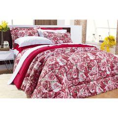 jogo-de-cama-9-pecas-pales-rosas-vermelhas-quarto-casal-queen-king